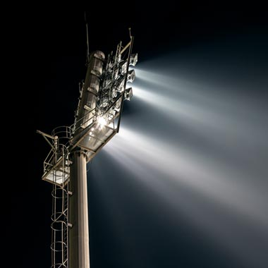 floodlights for a rugby field
